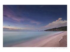 Grand Anse beach, La Digue Island, Seychelles Kunstdruk