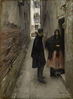 John Singer Sargent A Street in Venice