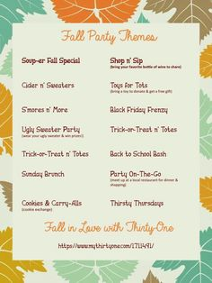 party themes i should suggest to my host to have a theme spa party