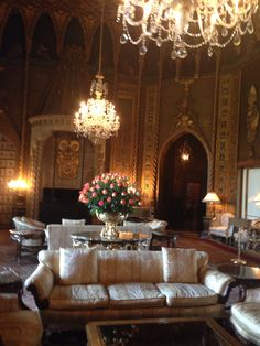 Sitting area, Mar-A-Lago, Palm Beach, Florida