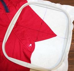 Free project tutorial for putting machine embroidery designs on shirt collars and cuffs.
