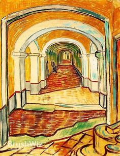 Vincent van Gogh corridor asylum painting for sale, this painting is available as handmade reproduction. Shop for Vincent van Gogh corridor asylum painting and frame at a discount of off. Vincent Van Gogh, Paul Vincent, Van Gogh Art, Art Van, Claude Monet, Desenhos Van Gogh, Van Gogh Pinturas, Kunst Online, Van Gogh Paintings