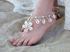 Barefoot Sandals, Wedding Sandals, Beach themed weddings, beach jewelry, reception dance shoes, beach sandals Enjoy the sand beneath your
