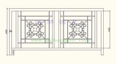 Wrought iron balcony railing China (Mainland) Balustrades & Handrails