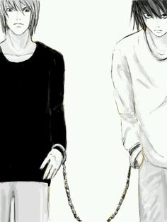 L And Light ... Death note on Pinterest | Death note, Death note l and L and light