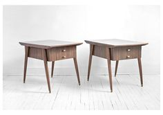 Vintage Mid Century Side Tables - Coffee, Side Table, Wood, Modern, Eames, Retro