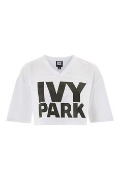 77aee83cd Logo Crop V Tee by Ivy Park - Topshop USA Ivy Park