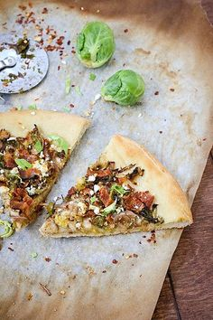 Brussels Sprout, Bacon, & Goat Cheese Pizza @FoodBlogs