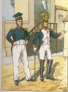 French; 8th Line Infantry, Commandant Vigo-Roussillon in tenue de Repos & Colonel Autie in Grande Tenue, 1809-10