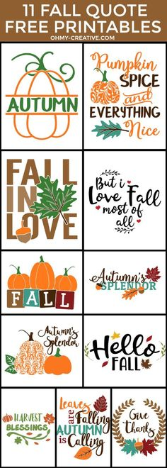 11 Fall Quote Free Printables perfect for Fall Decorating Pumpkin Printable Autumn Printables Fall Sayings Printables Autumn Sayings Fall Season quotes Fall Signs Fall Captions Fall Decor Ideas Give Thanks Printable Fall Season Quotes, Fall Quotes, Fall Sayings, Thanksgiving Sayings, Fall Crafts, Holiday Crafts, Fall Leaves Crafts, Pumpkin Printable, Fall Shirts