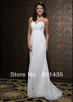 bb22c50a81507 Strapless Sweetheart Beaded Chiffon Empire Waist Plus Size Maternity  Wedding Dresses for Pregnant Woman