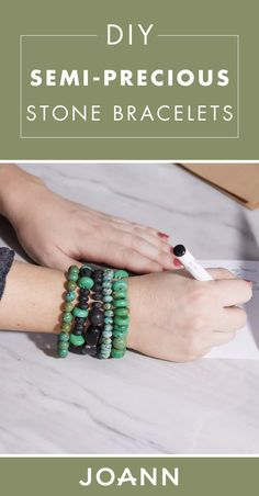 Did you know making your own jewelry can be a beginner-friendly project? Yes way! Check out this JOANN craft project for DIY Semi-Precious Stone Bracelets to learn more.