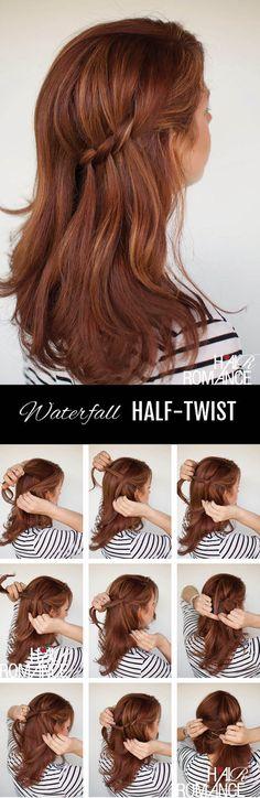 Waterfall Half Twist Hairstyle Tutorial - Toronto, Calgary, Edmonton, Montreal, Vancouver, Ottawa, Winnipeg, ON