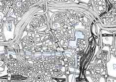 """from """"Drawing Autism""""  Who are some artists that you like?  None. I study road maps and atlases in detail and generally I scroll the full track of our trips on Google Earth."""