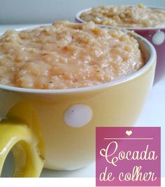 Cocada de colher! Delicious Desserts, Dessert Recipes, Yummy Food, Food Wishes, Portuguese Recipes, Food Inspiration, Love Food, Sweet Recipes, Food And Drink