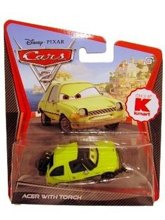 Disney / Pixar CARS 2 Movie 155 Die Cast Car Acer with Blow Torch by Mattel. $4.01. 1:55. All your favorite characters from the Disney Pixar film, CARS 2, in 155th scale. With authentic styling and details, these die cast characters are perfect for recreating all the great scenes from the movie. Collect them all!Star racecar Lightning McQueen and the incomparable tow truck Mater take their friendship to exciting new places in Disney Pixar Cars 2 when they head overseas to compete...