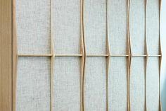 CABINET, oak, paper mesh www.janbourquin.com