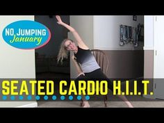 Quiet and Quick Seated Cardio HIIT - High Heart Rate Workout with a Chair… Low Impact Workout, High Intensity Interval Training, Best Cardio, Cardio Hiit, Chair Exercises, Aerobic Exercises, Senior Fitness, Broken Leg, I Work Out
