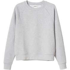 Monki Caroline sweat (€10) ❤ liked on Polyvore featuring tops, sweaters, shirts, jumpers, grey cloud melange, sport shirts, sports tops, shirts & tops, grey shirt and grey top