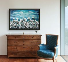 "Turquoise cotton field with Floating Frame Turquoise cotton field - Large turquoise cotton flowers painting Modern, textured acrylic on canvas piece. Ready to hang on the wall artwork. SIZE: 100x150 cm / 39""x60"". #art #paintings #abstract #acrylic #modern #original #wall #decor #gift #homedecor #home #blue #turquoise #housewarminggift #modernwalldecor #abstractpainting #colorfulpainting #originalpainting #acrylicpainting #contemporaryart #bluepainting #readytohangcanvas #livingroomwallart…"