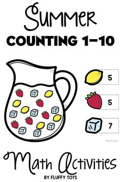 Counting 1-10 will be fun and engaging with this Summer Counting pack!  Exciting lemonades, seashells and beach bags awaiting your little learners to practice their counting skills.  THIS pack includes both printable version and for Google Slides™ version. You can assign in either Google Classroom™ or print easily for students.