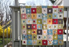 This quilt pattern is so easy and fun.  I think I'm going to try a Christmas themed one for this year.