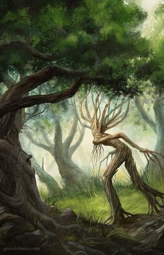 Ents  (Detail) copyright Gonzalo Kenny Tolkien, O Hobbit, Legends And Myths, Create Canvas, Fantasy Art Landscapes, Mythical Creatures Art, Fairytale Art, Oil Painting On Canvas, Oil Paintings