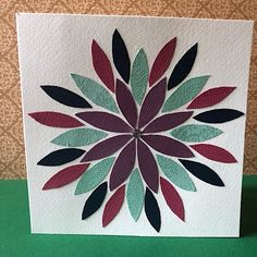 Colourful flower petal bank card for any occasion