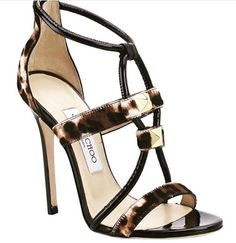 Jimmy Choo Spring 2014 - this is a very sexy sandal! Zapatos Animal Print, Animal Print High Heels, Pumps, Stilettos, Pretty Shoes, Beautiful Shoes, Hot Shoes, Shoes Heels, Carteras Michael Kors