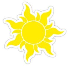Tangled Sun | Sticker