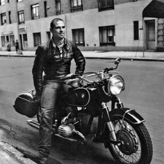 "Oliver Sacks in Greenwich Village, 1961, on his new BMW R60. Image from the book ""On the Move: A Life"" by Oliver Sacks. (Douglas White / Knopf)"