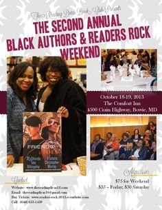 The 2013 Black Authors & Readers Rock Weekend – October 18 & 19