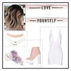 """""""Love Yourself"""" by theajames101 ❤ liked on Polyvore featuring Charlotte Russe and Christopher Kane"""