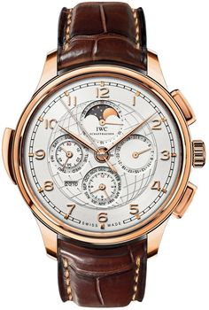 IWC Portuguese Grande Complication $198,050 #IWC #watch #watches #chronograph Solid 18kt rose gold case with finely brushed