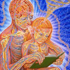 Dawn sky Alex Grey Reading Art Silk Poster inch door home Alex Grey, Alex Gray Art, Psychedelic Art, Art Visionnaire, Psy Art, Mystique, Process Art, Visionary Art, Street Art