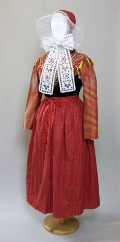 Traditional costume from Spremberg, Germany, before 1945.