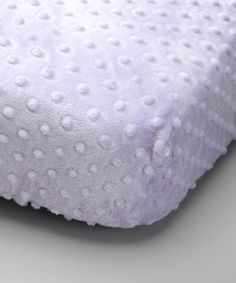 Take a look at this Lolly Gags Lavender Minky Fitted Crib Sheet on zulily today!