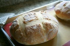 Genuinely easy homemade bread.  Must try (especially since I'm intimidated by making bread).