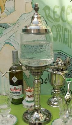 Some people have a wine bar, I will have an Absinthe bar in MY HOUSE.