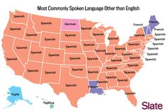 US map of most commonly spoken language in each state after English. World Languages, Foreign Languages, Spanish Classroom, Teaching Spanish, Classroom Ideas, Second Language, Spanish Language, Barack Obama, United States Map