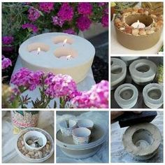 How To Make Cement Candle Holders by michele.bernier.1