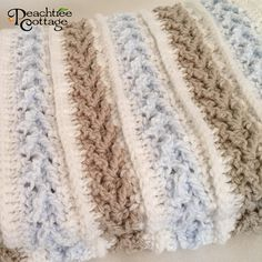 Crochet Pattern - Avalon Baby Blanket - Baby Afghan Babyghan - Throw Blanket or Lapghan Pattern - PDF Format Crochet this beautiful baby blanket which is designed for baby to enjoy for years. A gorgeous, handmade, keepsake baby afghan would make a perfect baby shower gift or an