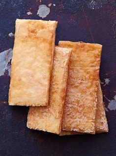 Phyllo Crisps Recipe - Phyllo baked with butter, sugar & spice then glazed with honey syrup