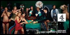 Green Wing - daft, bizarre, improvised and childish humour.  Michelle Gomez, (Sue White),  and Mark Heap, (Dr Statham), are stand out performers
