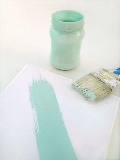 Tuto: Comment composer sa propre peinture à la craie