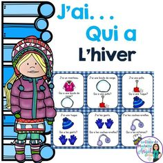 "L'hiver!  Engage your students with this classic game of ""J'ai . . . Qui a  . .."" in French with a winter theme."
