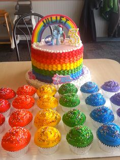 Rainbow+My+Little+Pony+Cake+-+
