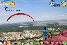 Parapente Cursos Guayaquil Ecuador Aprende de este deporte lleno de adrenalina y ademas podras disfrutar de los hermosos paisajes desde los cielos.