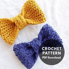 Crochet pattern. Crochet bows. #crochet #bow