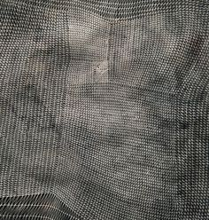 "lariwashburn:    (via Art as Organizer / Sam Messenger. ""Six veils"". One of ""a set of ink-on-paper pieces that accomplish rich monochromatic textures through razor-thin intersecting lines."" Cool Hunting, Culture, CH Editors, 7 December 2011)"